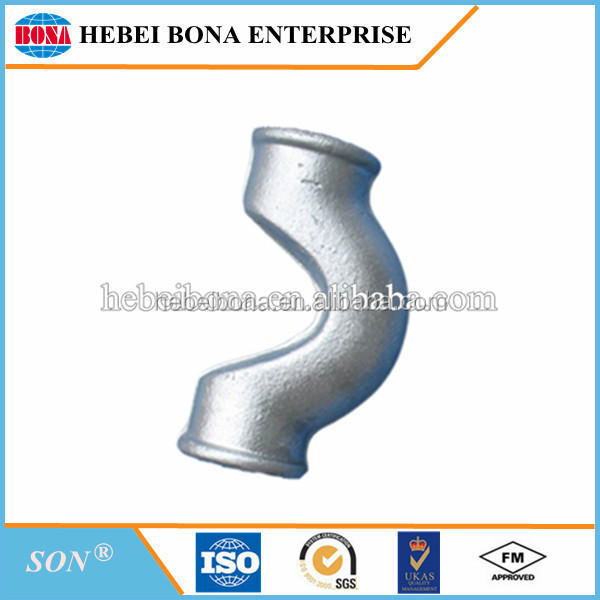 Hot dipped galvanized cross over malleable iron pipe fittings