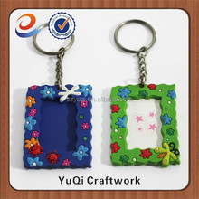 Trade Assurance factory supplier mini photo frame keychain pvc insert picutre photo frame key chain