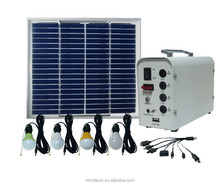 10W Solar indoor system lighting and chargeing mobile phone for Africa remote area