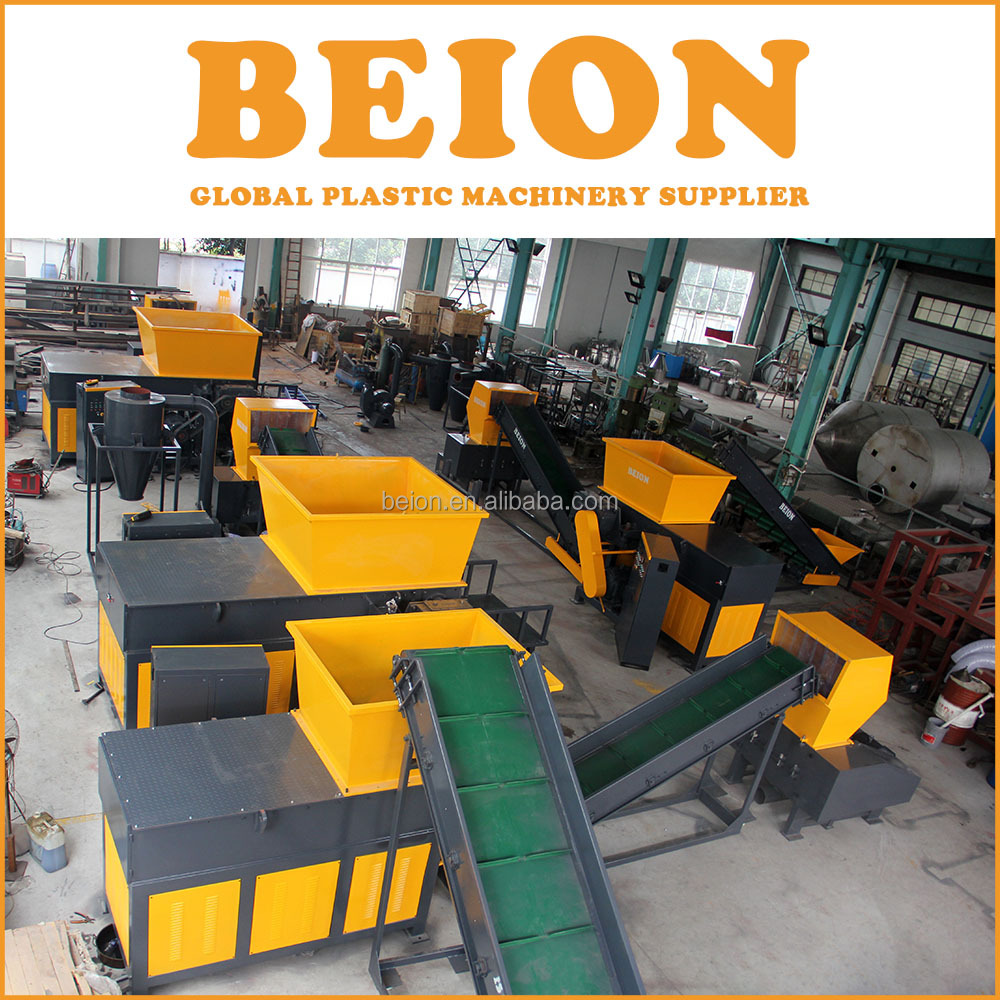 BEION Wood pallet shredder for sale/ industrial cardboard shredder / single shaft plastic shredder machine