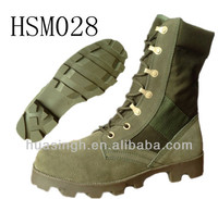 Vulcanized technology spike protective military OD jungle boots Panama ripple sole