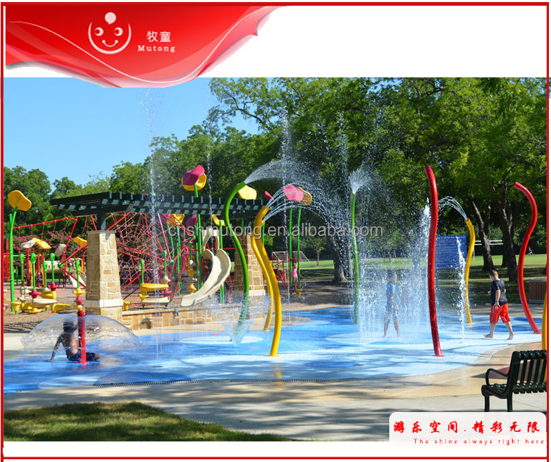 Commercial Spray Park Splash Pad Kits Water Play Equipment For Sale