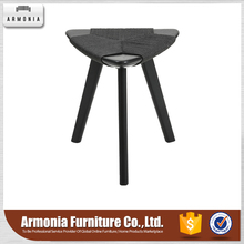 Factory price durable three legs wooden stool black kitchen bar stools