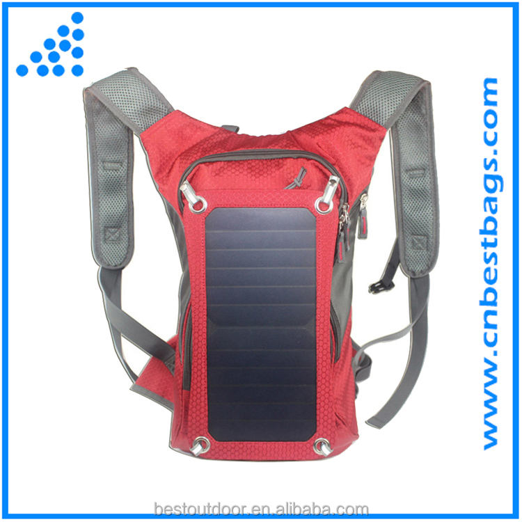 Solar Charger Backpack With 7 Watts Solar Panel for iPhone, iPad, iPod, Samsung Galaxy Series Phones and Tablets