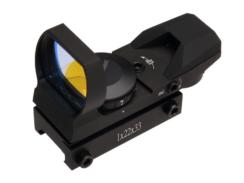 China 4 Reticle 1X22X33 Red Dot Sight With 20mm Weaver Rail Mount