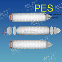 10inch PES pleated filter cartridge
