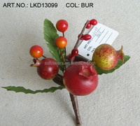 artificial handmade foam berries and holly leaf napkin ring