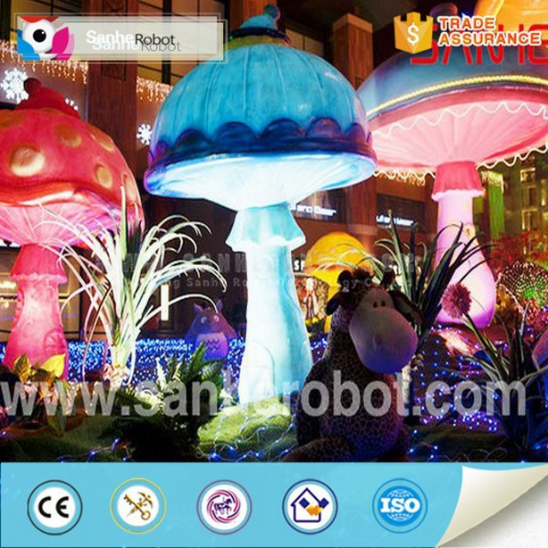Outdoor decoration sculpture fiberglass mushroom