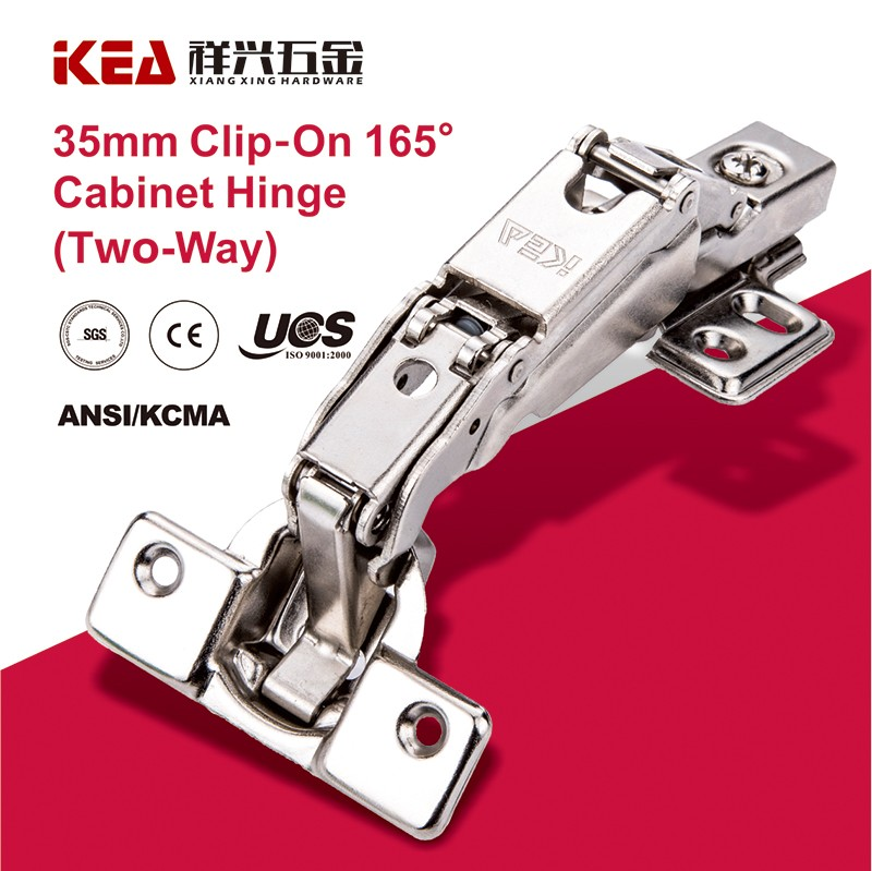[B30] Two Way Clip-On 165 Degree Hinge For Cabinet Furniture Hardware Hinge