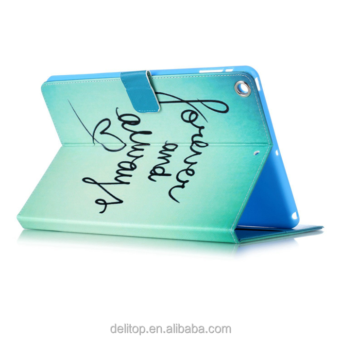 Hot Sale Flip PU Leather Card Holder Stand Printing Design Case Cover For Apple iPad air/ipad 5