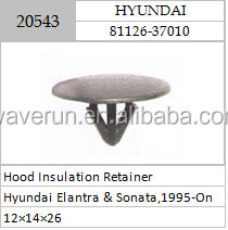 HOOD INSULATION RETAINER FOR AUTO PARTS