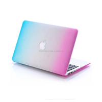 High quality new fashion Gradient rainbow ultra thin PC laptop case for MacBook air 13.3 inch