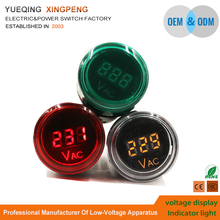 22mm 70V -450V red green white LED Lighting head Signal Indicator lamp Light with voltage display