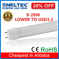 Cheap price high lumen 9W plastic led tube t8 600mm to replace 36w fluorescent