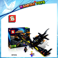 Super Heroes BATMAN Minifigures AND 3 people DIY Building Blocks Learning & Education Baby Toy enlighten building blocks sy316
