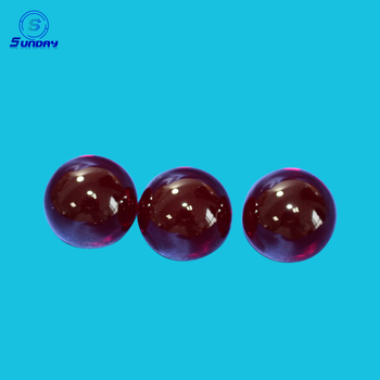 Optical precision ruby ball lens and half ball lens