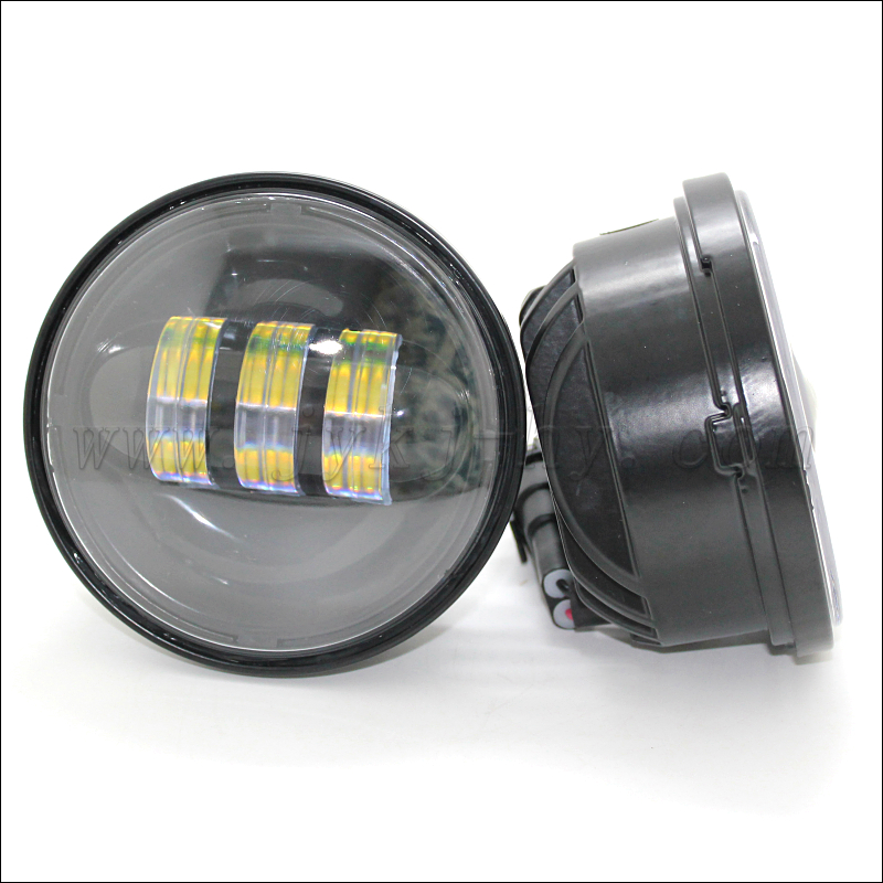 4.5Inch 30W LED Motorcycle Fog Light Kit Work Driving Lamp for Harley