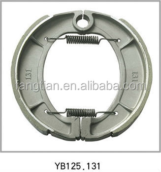 YB125 Asbestos Free 150*25mm Motorcycle Brake Shoes Cheap Price