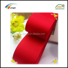 100% polyester decorative wholesale grosgrain red ribbon