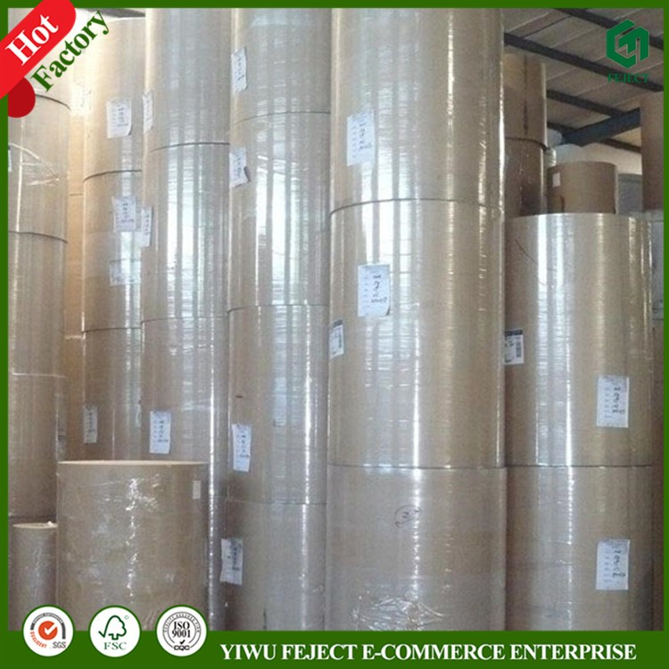 Custom-Made 28-140gsm Poly Coated Kraft Paper Rolls, PE Laminated Offset Paper, PE Coated Food Paper, FDA, Greaseproof, Hot Melt