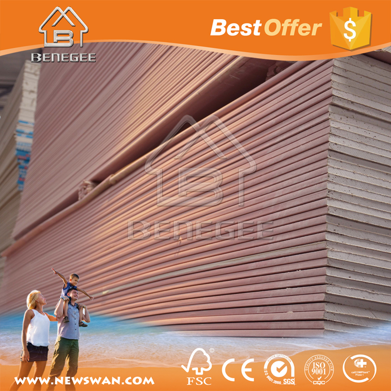 Fireproof Gypsum Board / Wholesale Pink Fireproof Drywall