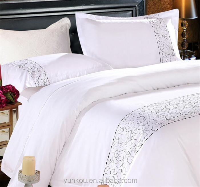 4pcs cotton embroidery bed sheet/design home textile/bed sheet set