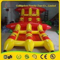 Color customized water games inflatable flyfish,fly fish boat ,flying fish toy