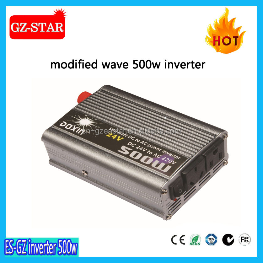 Modified sine wave automobile DC/AC voltage inverter 500W