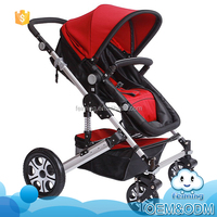 Wholesale innovative product big foam wheels fashion design see baby stroller 3-in-1 with large space lying