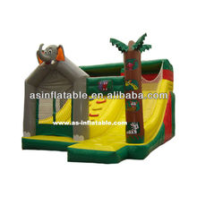 top selling inflatable game bouncer elephant boncer with slide for sale