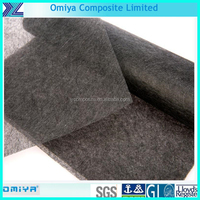 thin fiber resistant carbon fiber surface mat construction materials
