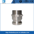 316 SS Camlock quick coupling Male camlock adaptor outer thread Type F