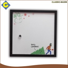 Merry Christmas simple decorative cork board painting with black frame