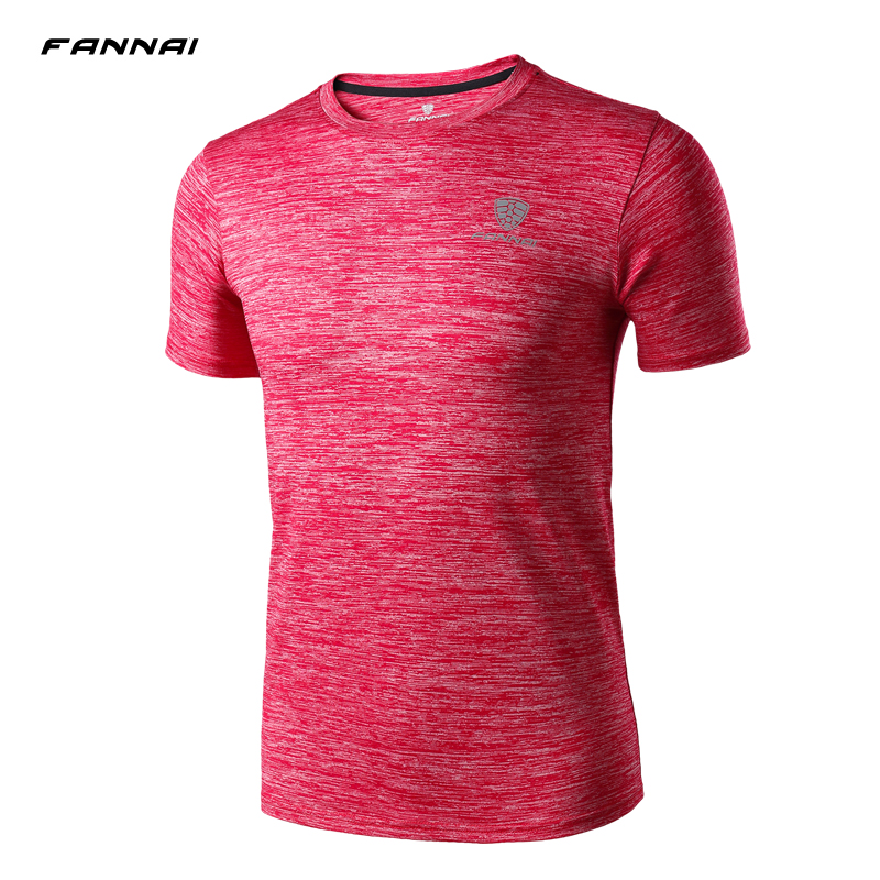 Cheap Gym Wear Cool Mens Short Sleeve Red Muscle T shirt