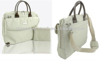 Stock/overstock white computer/laptop bag/attache case for woman/lady/girl/female