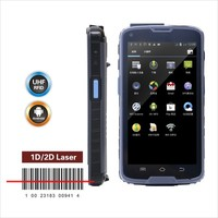 Android PDA mobile barcode scanner with high quality, NFC RFID Rearder is available with 1443A protocol tags