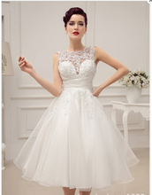 S63474A Romantic Lace Bridesmaid Dresses Knee Length Sleeveless Short Lace Made Of Honor Dress