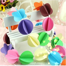 Colorful Wedding Decoration Paper Garlands