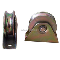 Galvanized steel fence gate bearing wheel