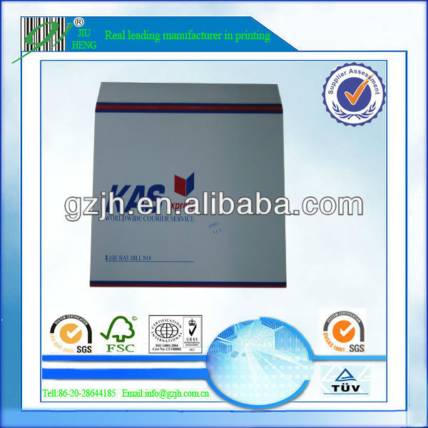 peal and seal mailing envelope offered by printing manufacturer for courier company