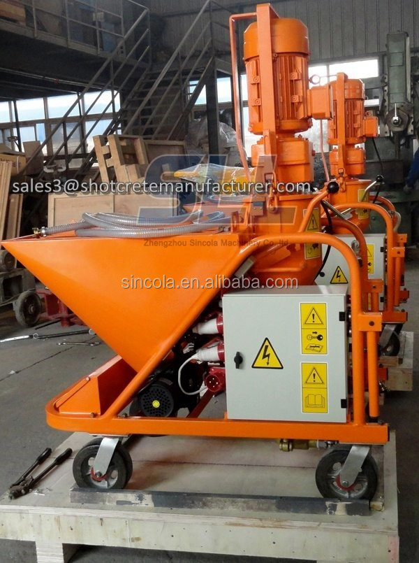 Zhengzhou Sincola High Efficiency Dry Ready Mix lime/cement/mortar spraying machines for Wall