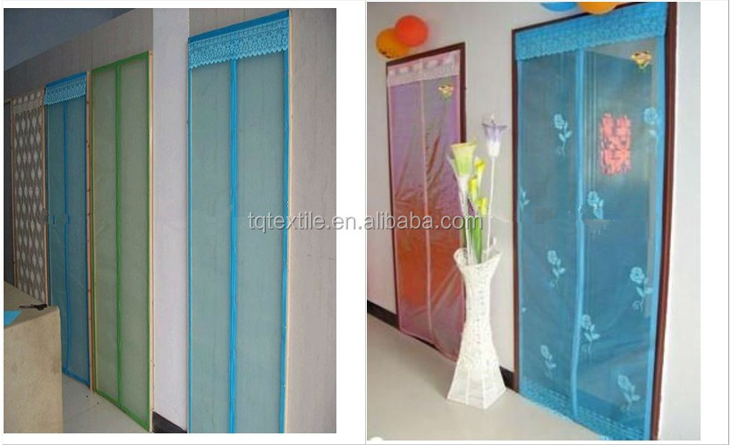mesh insect door curtain with magnet