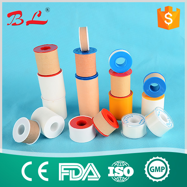 Zinc Oxide Cotton Tape with Good Stickiness, Low Allergenic and Easy Tear