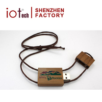 High Quality Necklace USB 500mb Wood Flash Drive 64gb With All Capacity Made in China