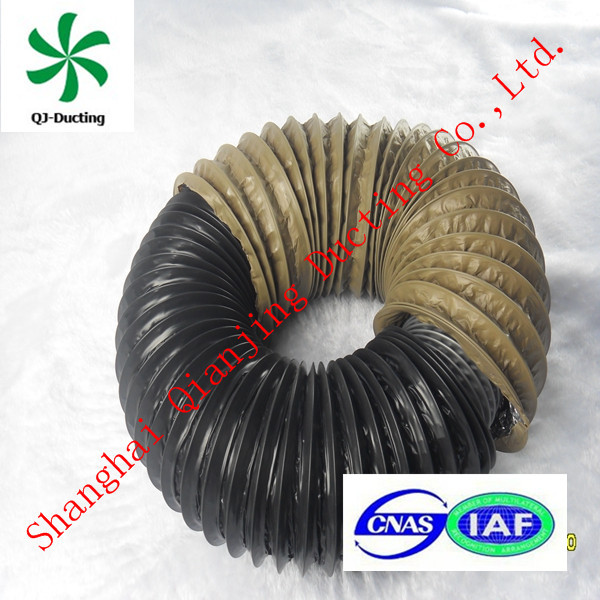 fireproof flexible aluminum insulated duct pvc coated ventilation duct fabric