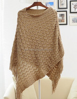high quality transparent hand knitted wholesale cashmere poncho