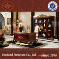 0063 Italian extravagant manager office furniture,wooden carved office table and chair