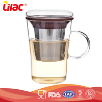 hot sale cheap price eco- friendly Handmade borosilicate Heat Resistant making tea drinking glass cup with handle