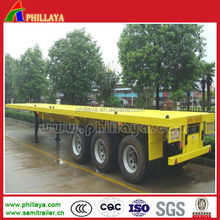 3 axle 40 ft 45 ft 53 ft 50ton containers flat bed high bed semi-trailer truck 40 tons price truck trailer air suspension