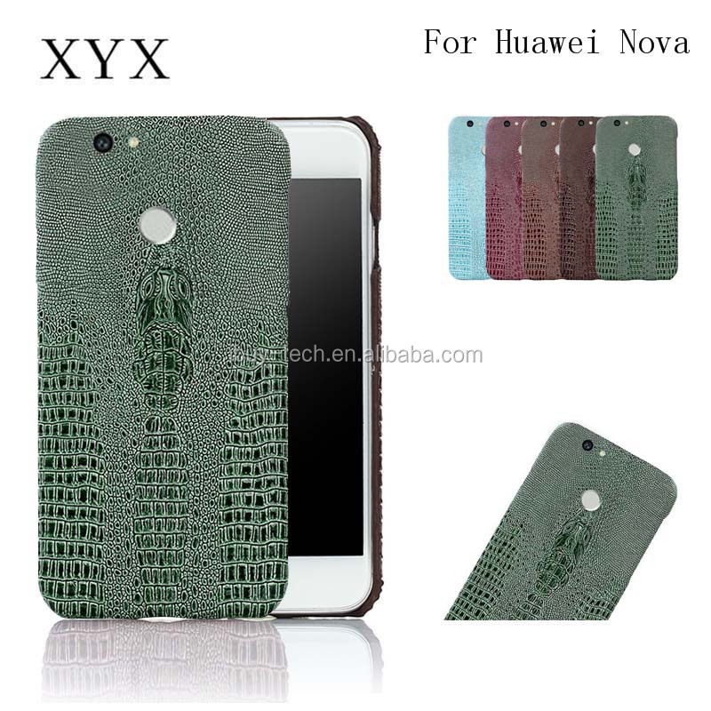 2017 New 3D Snake Skin Mobile PC Leather Back Cover Case for Huawei nova